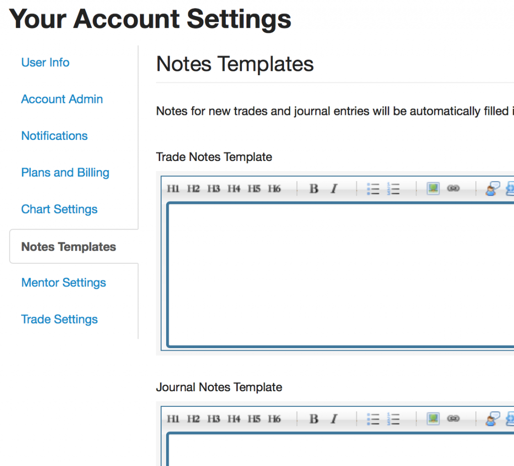 Notes templates